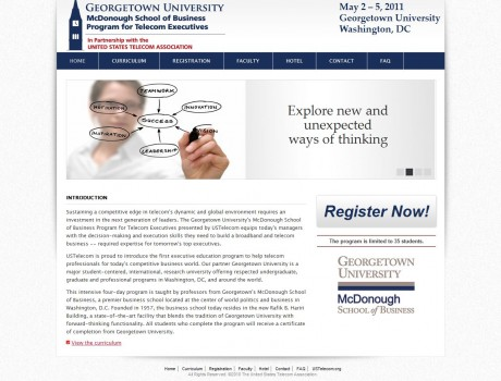 Georgetown University's<br> McDonough School of Business Program for Telecom Executives
